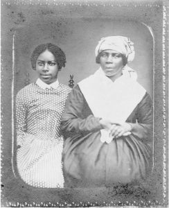 Juddy, the Telfair family's enslaved cook, with her granddaughter Lavinia.