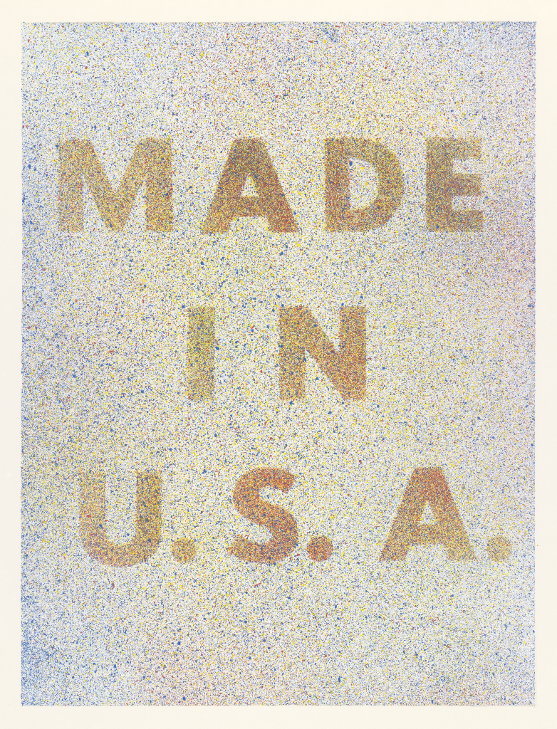Ed Ruscha; America Her Best Product from Kent Bicentennial Portfolio Spirit of Independence, 1974
